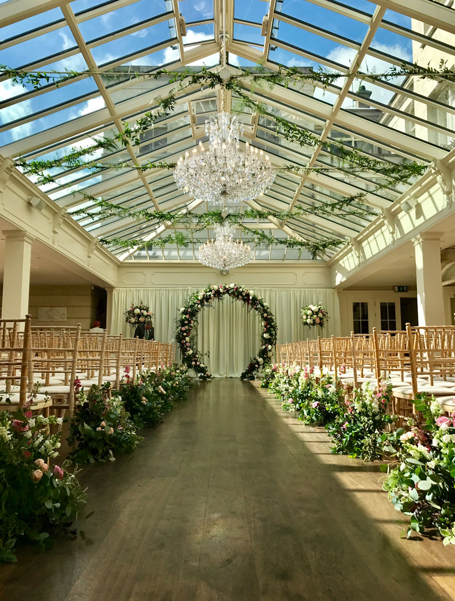 Ceremony in Tankardstown House Orangery