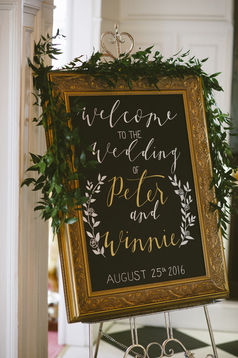 Copy of Winnie and Peter Welcome Sign