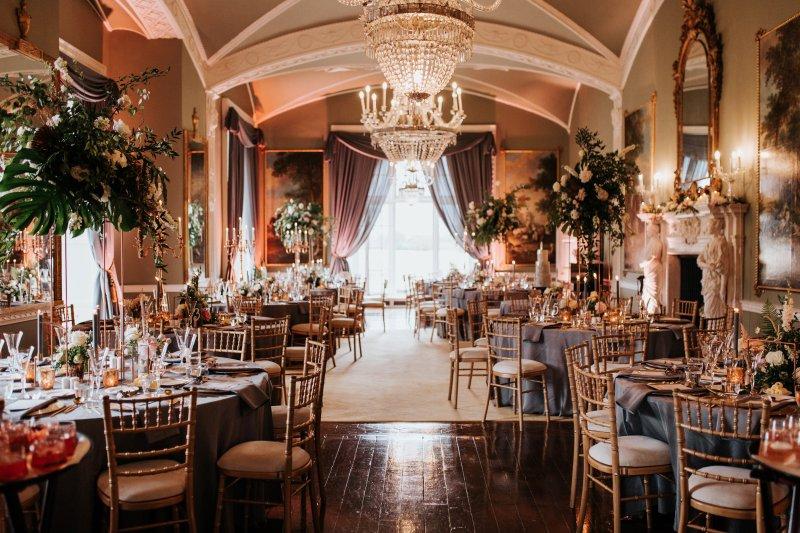 Luxury draping Luttrellstown Castle