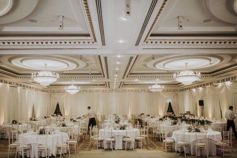 Full room draping Powerscourt Hotel